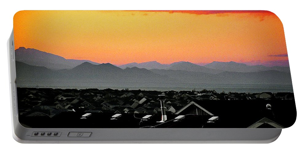 Color Portable Battery Charger featuring the photograph Colorado Sunset by Wallace Rollins