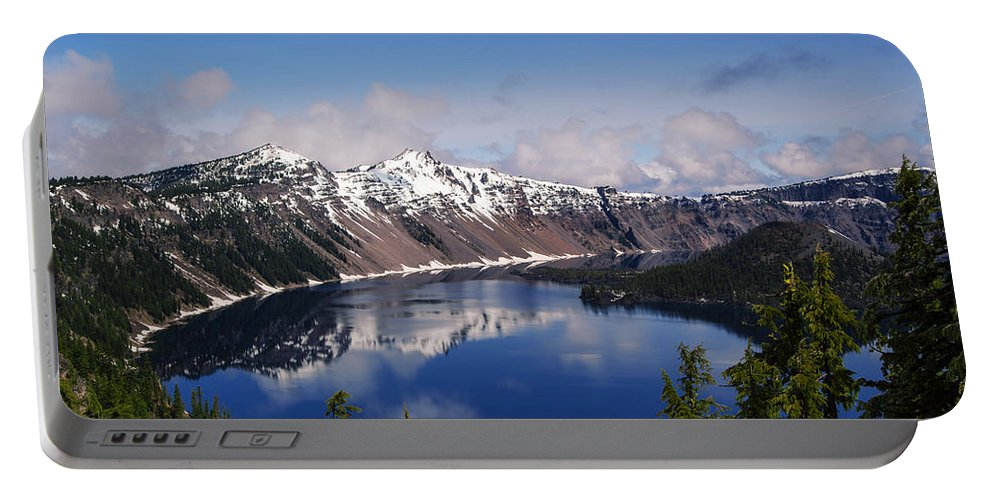 Crater Lake Portable Battery Charger featuring the photograph Crater Lake - Oregon by Yefim Bam
