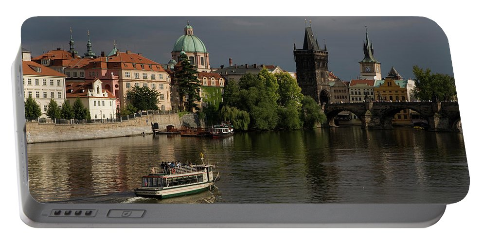 Charles Bridge Portable Battery Charger featuring the photograph Czech Republic, Prague by Robert Caputo