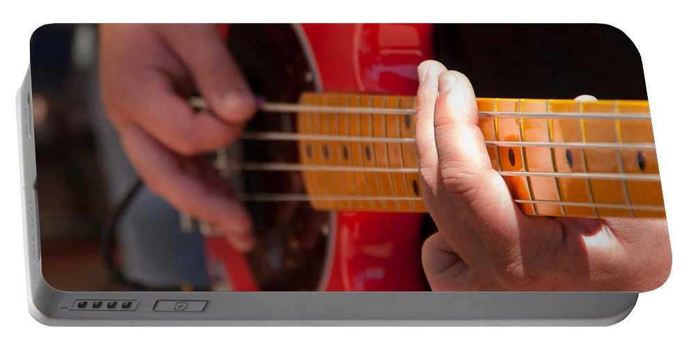 Denver Portable Battery Charger featuring the photograph Bass Playing - Denver by Lee Roth