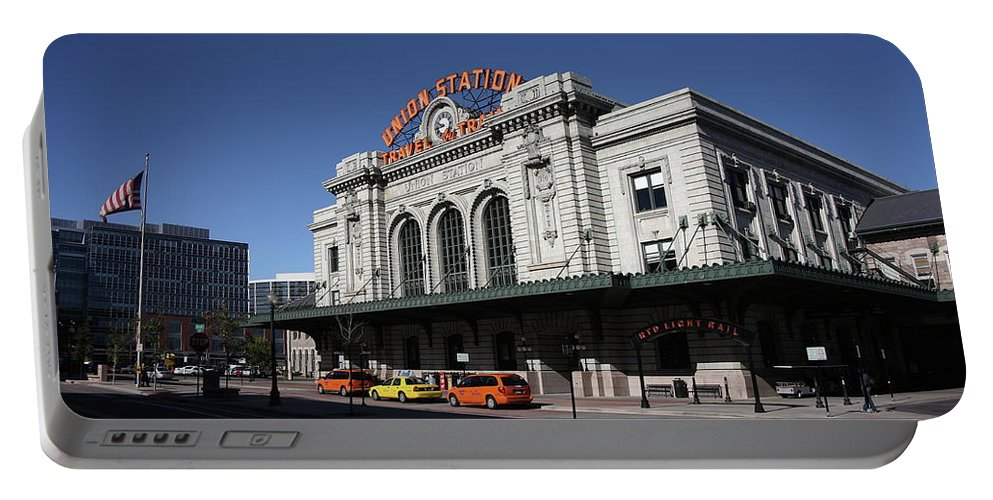 America Portable Battery Charger featuring the photograph Denver - Union Station by Frank Romeo