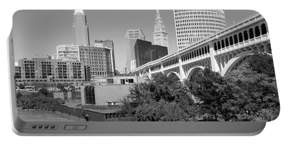 Cleveland Portable Battery Charger featuring the photograph Detroit Superior Bridge Cleveland by Bill Cobb