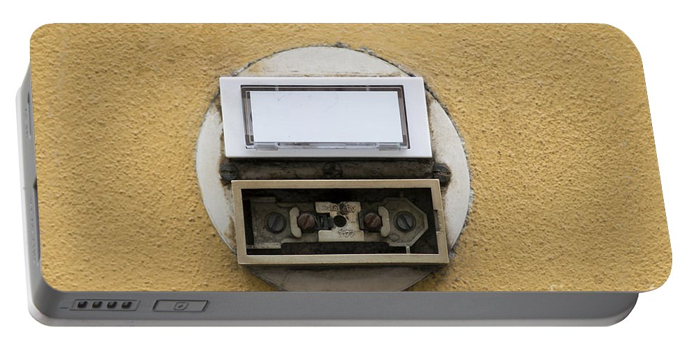 Internet Portable Battery Charger featuring the photograph Doorbells by Michal Boubin