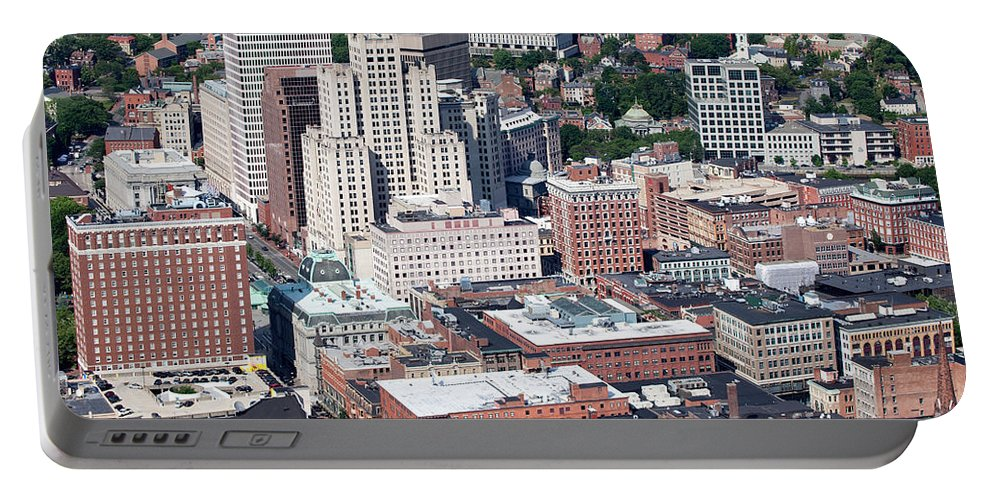 Bank Of America Portable Battery Charger featuring the photograph Downtown Providence Rhode Island by Bill Cobb