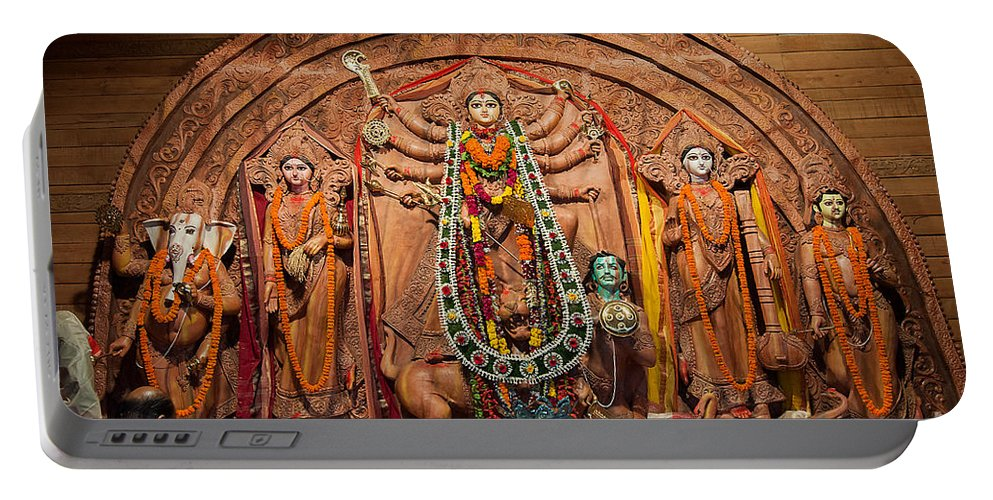 Durga Portable Battery Charger featuring the photograph Durga Puja Festival by Rudra Narayan Mitra