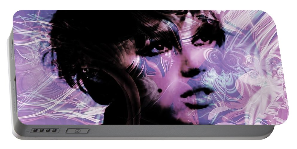 Edie Portable Battery Charger featuring the digital art Edie by Elizabeth McTaggart