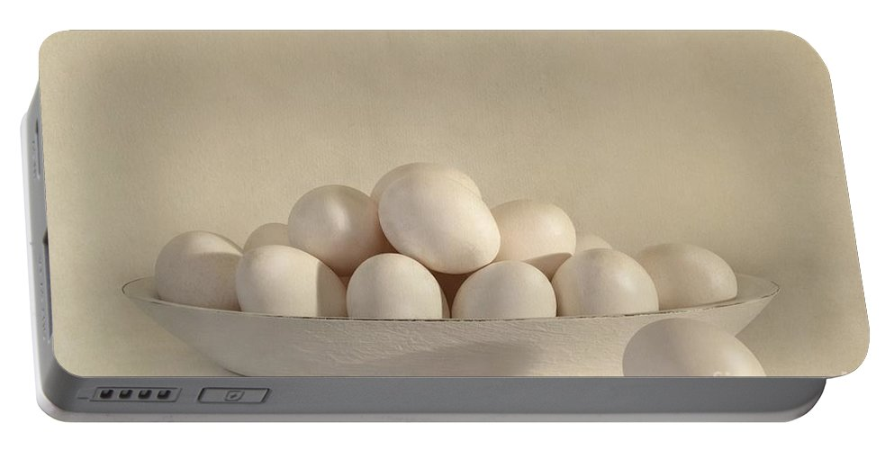 Eggs Portable Battery Charger featuring the photograph Eggs by Priska Wettstein