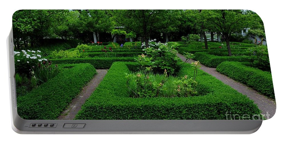 English Portable Battery Charger featuring the photograph English Garden by Kathleen Struckle