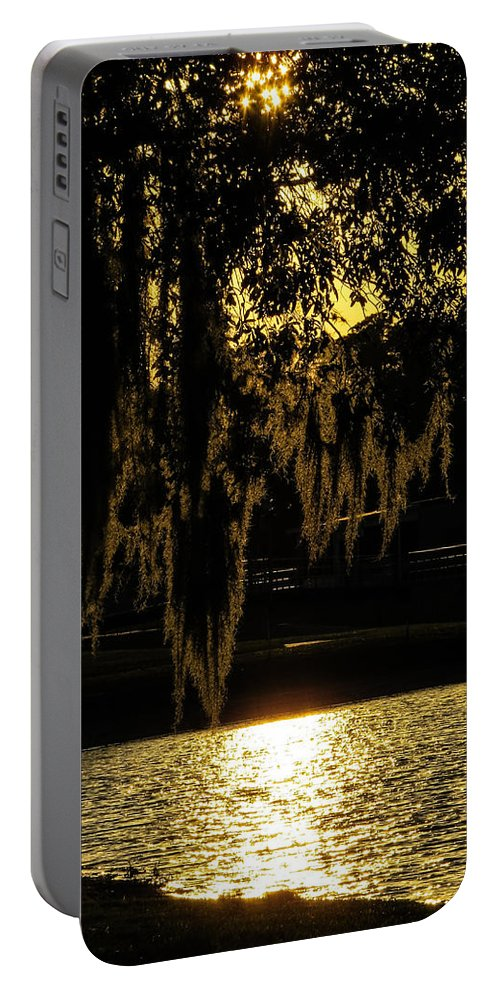 Sunset Portable Battery Charger featuring the photograph Evening At The Lake by Zina Stromberg