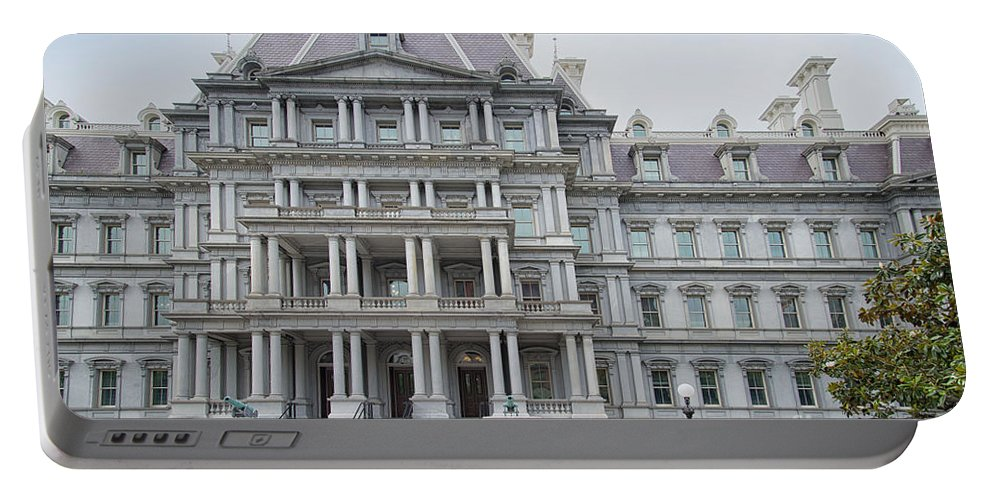 Executive Office Building Portable Battery Charger featuring the digital art Executive Office Building by Carol Ailles