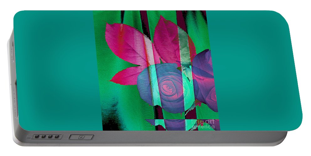 Digital Art Image Portable Battery Charger featuring the digital art Exotic by Yael VanGruber