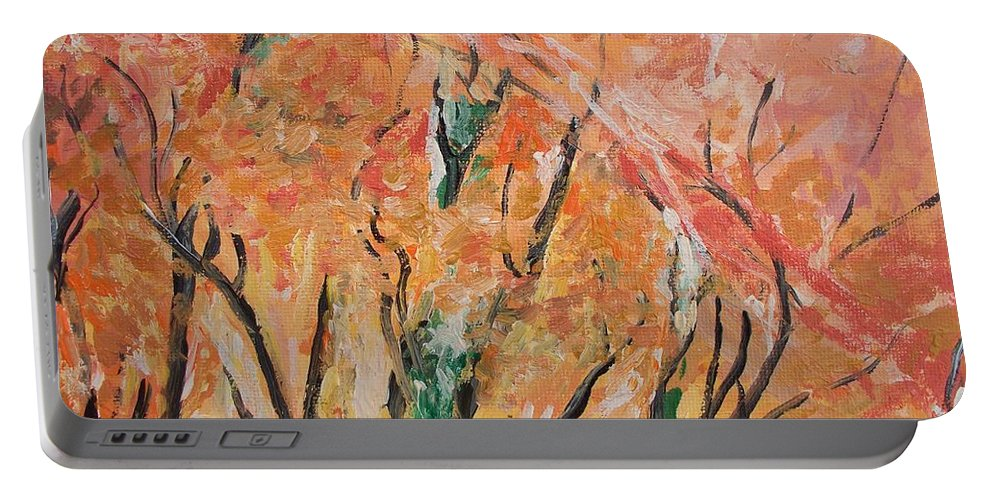 Fall Portable Battery Charger featuring the photograph Fall Colors At Cape May by Eric Schiabor