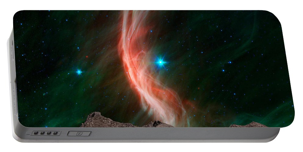 Sunlight Portable Battery Charger featuring the photograph Fire In The Sky by Paul Fell