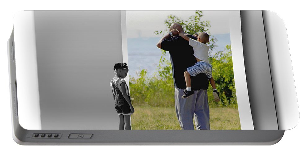 2d Portable Battery Charger featuring the photograph Feeling Left Out by Brian Wallace