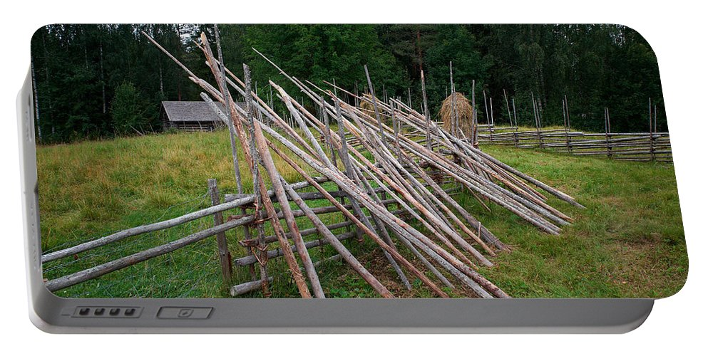 Finland Portable Battery Charger featuring the photograph Fence by Jouko Lehto