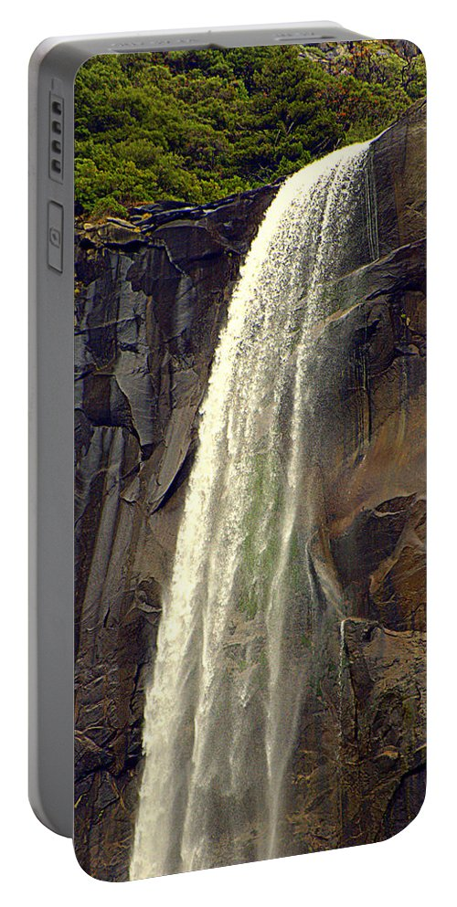 Water Falls Portable Battery Charger featuring the photograph Final Drop by Lynn Bawden