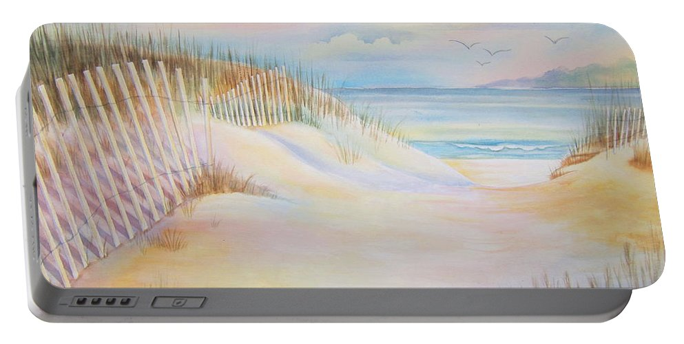 Florida Portable Battery Charger featuring the painting Florida Skies by Deborah Ronglien
