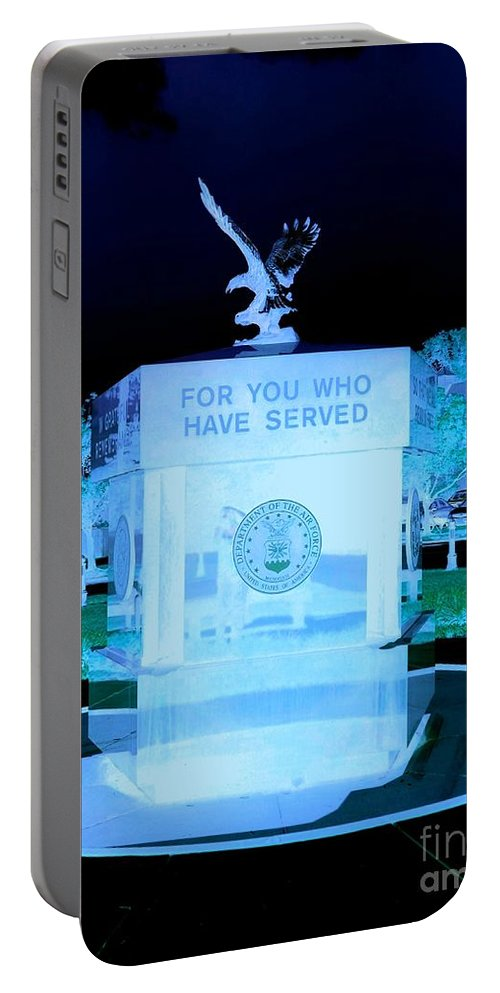 Portable Battery Charger featuring the photograph For Those Who Have Served by Kelly Awad