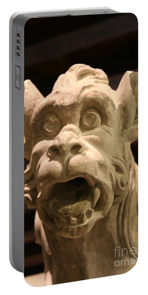 Gargole Portable Battery Charger featuring the photograph Gargoyle by Christiane Schulze Art And Photography