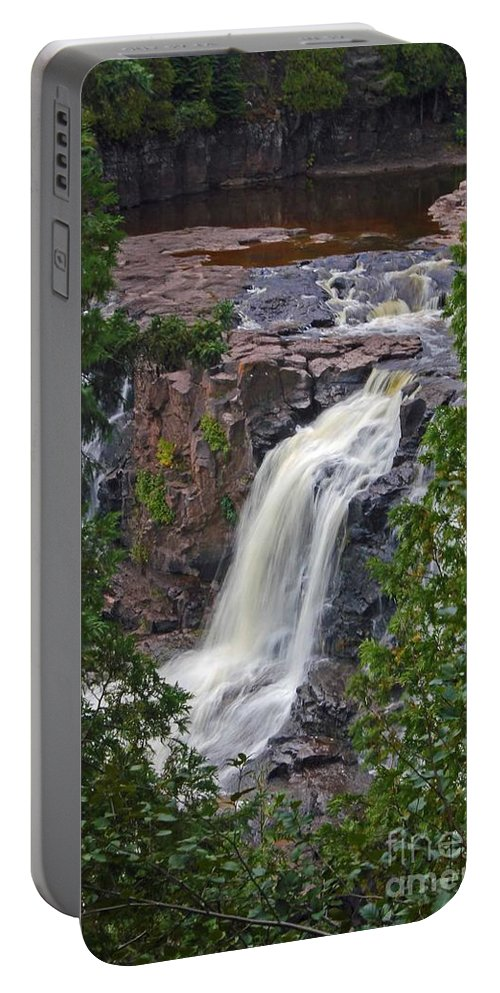 Gooseberry Falls Portable Battery Charger featuring the photograph Gooseberry Falls by Stephanie Hanson