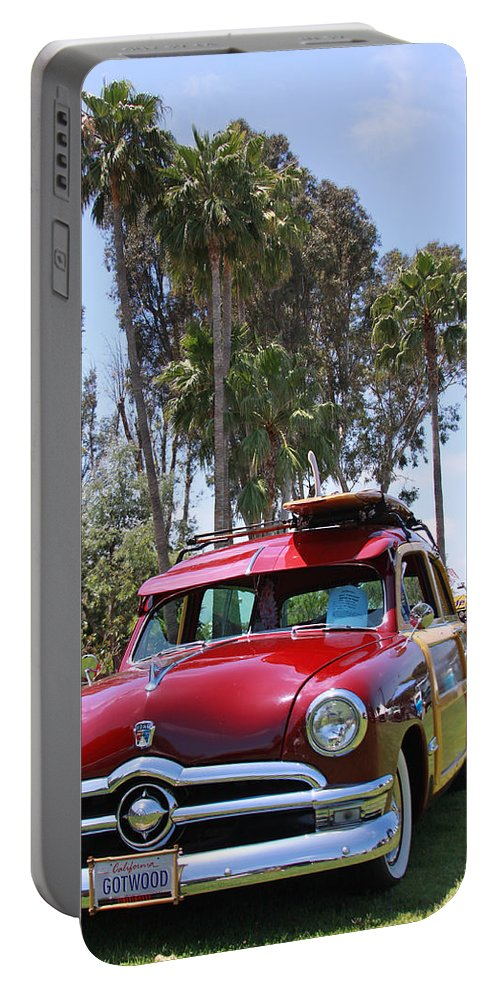 Classic Car Portable Battery Charger featuring the photograph Got Wood? by Shoal Hollingsworth