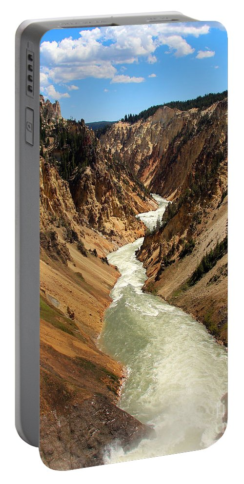 Grand Canyon Of Yellowstone Portable Battery Charger featuring the photograph Grand Canyon Of Yellowstone by Jemmy Archer