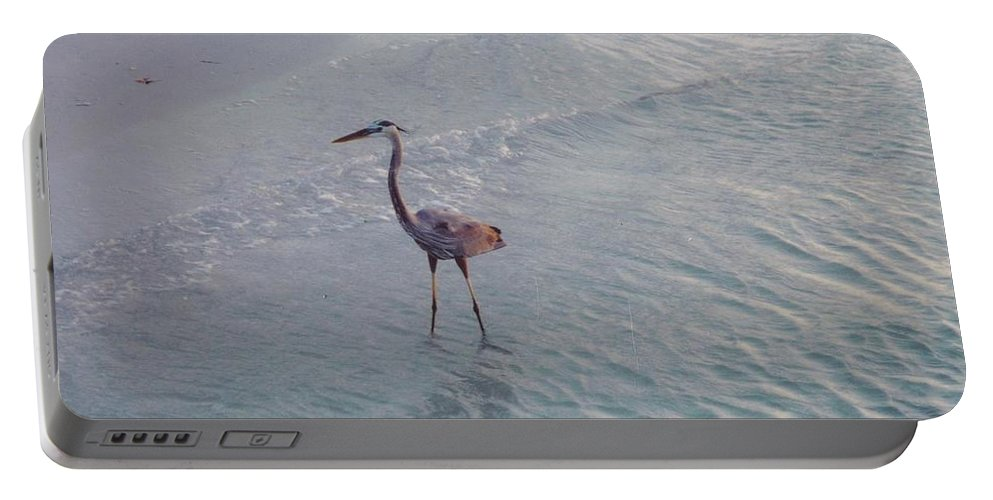Sanibel Portable Battery Charger featuring the photograph Great Blue Heron by Robert Floyd