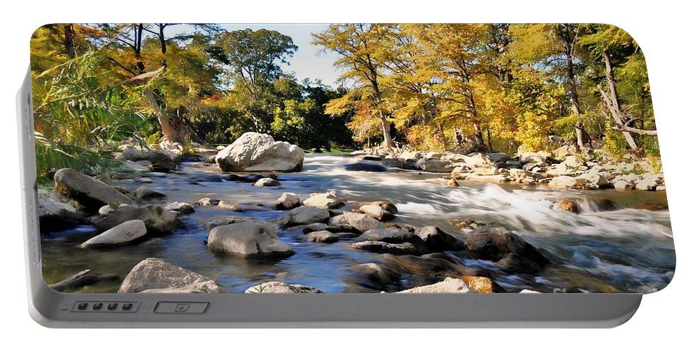 River Portable Battery Charger featuring the photograph Guadalupe River by Savannah Gibbs