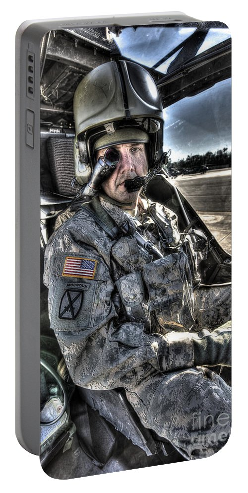 Aircraft Portable Battery Charger featuring the photograph Hdr Image Of A Pilot Equipped by Terry Moore