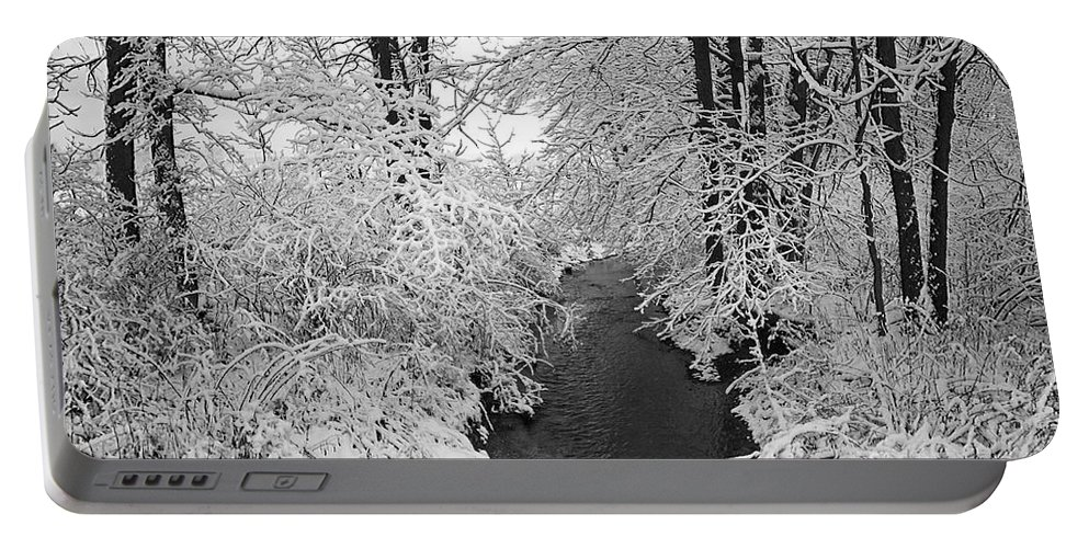Snow Portable Battery Charger featuring the photograph Heavy With Snow by John Stephens