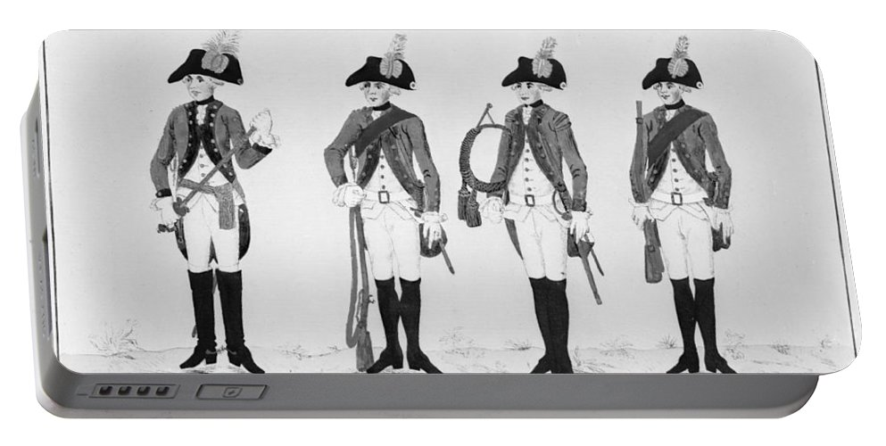 18th Century Portable Battery Charger featuring the photograph Hessian Soldiers by Granger