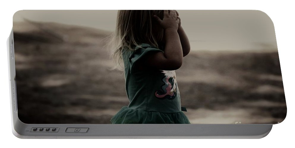 Girl Portable Battery Charger featuring the photograph Hide And Seek by Jessica Shelton