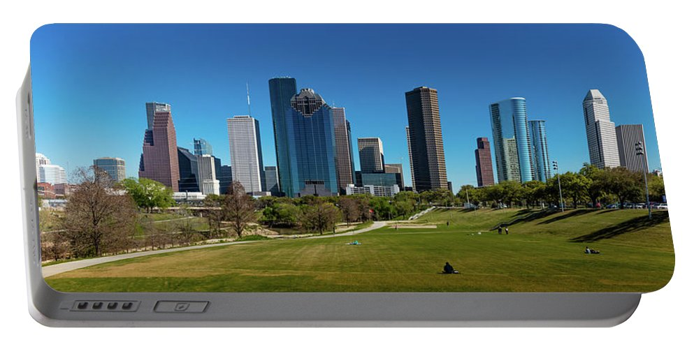 Photography Portable Battery Charger featuring the photograph Houston, Texas - High Rise Buildings by Panoramic Images