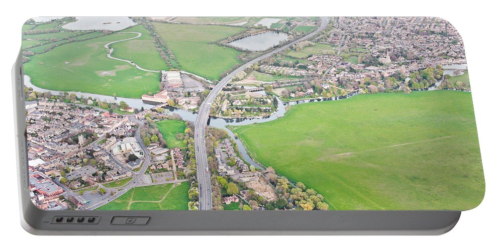 A14 Portable Battery Charger featuring the photograph Huntingdon by Tom Gowanlock