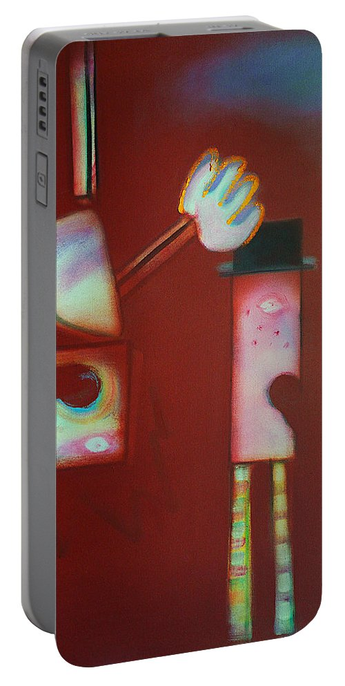 Icarus Portable Battery Charger featuring the painting Icarus And Daedalus by Charles Stuart