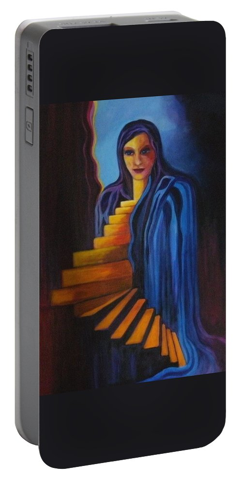 Women Portable Battery Charger featuring the painting Inner Strength by Carolyn LeGrand