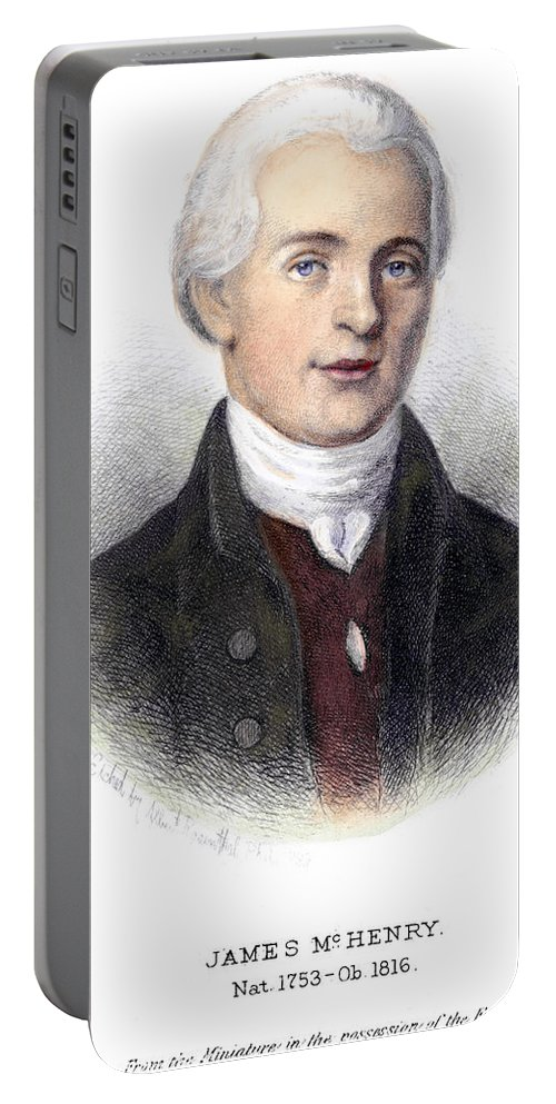 1888 Portable Battery Charger featuring the photograph James Mchenry (1753-1816) by Granger
