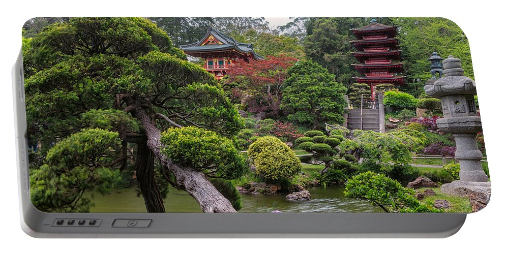 3scape Portable Battery Charger featuring the photograph Japanese Tea Garden - Golden Gate Park by Adam Romanowicz