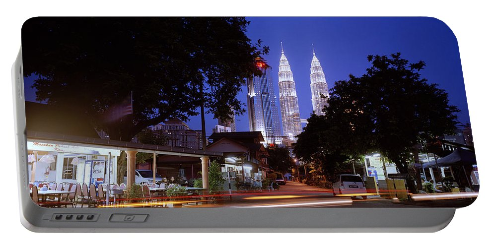 Kampung Baru Portable Battery Charger featuring the photograph Kampung Baru Nightfall by Shaun Higson