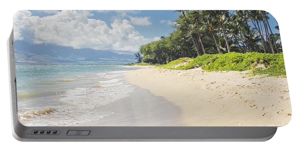 Aloha Portable Battery Charger featuring the photograph Kawililipoa Beach Kihei Maui Hawaii by Sharon Mau