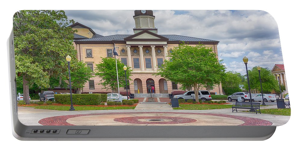 Lake Portable Battery Charger featuring the photograph Lake City Courthouse by Howard Salmon