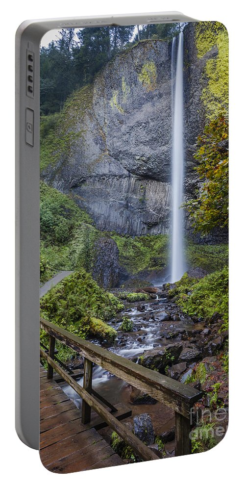 America Portable Battery Charger featuring the photograph Latourell Falls by Brian Jannsen