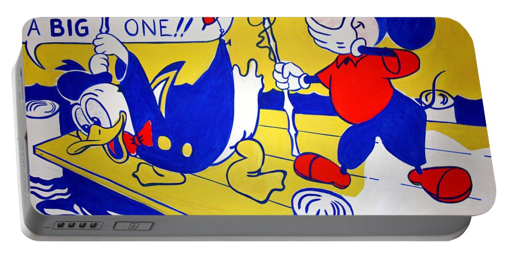 Donald Portable Battery Charger featuring the photograph Lichtenstein's Look Mickey by Cora Wandel