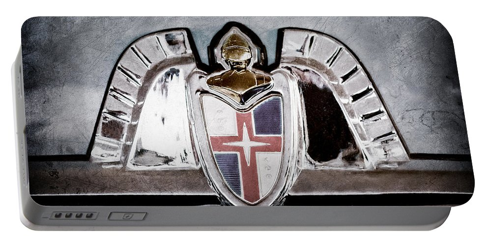 Lincoln Emblem Portable Battery Charger featuring the photograph Lincoln Emblem by Jill Reger