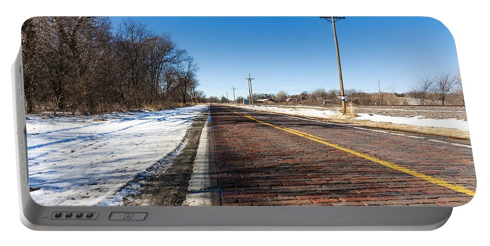 Lincoln Highway Portable Battery Charger featuring the photograph Lincoln Highway by Edward Peterson