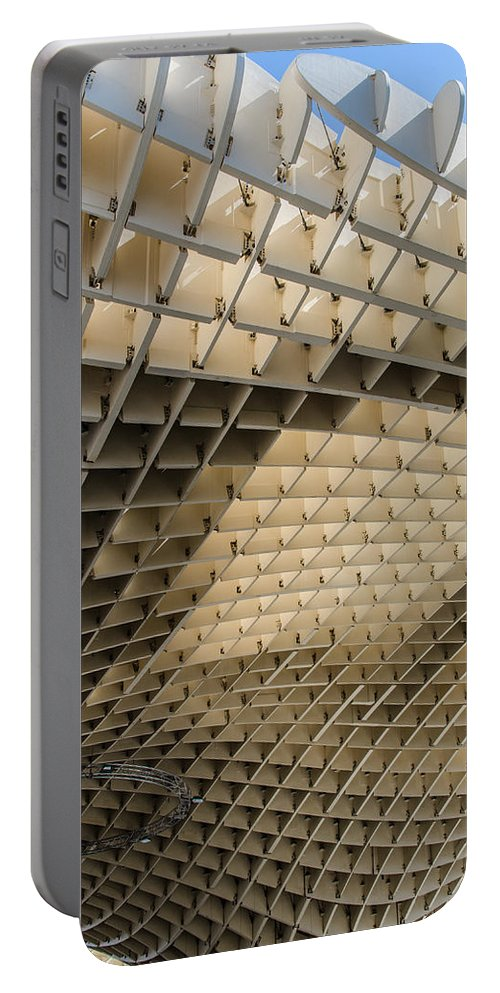 Sevilla Portable Battery Charger featuring the photograph Lines And Curves by Andrea Mazzocchetti