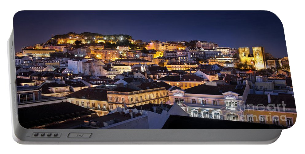 Alfama Portable Battery Charger featuring the photograph Lisbon Downtown by Carlos Caetano