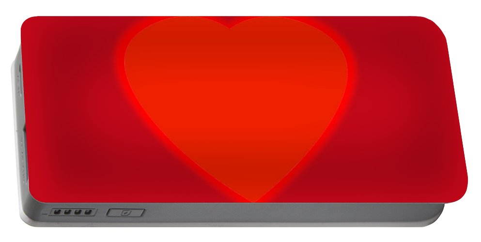 Love Portable Battery Charger featuring the painting Love Heart by Charles Stuart