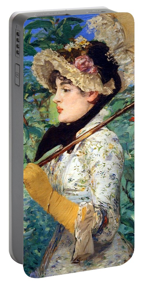 Spring Portable Battery Charger featuring the photograph Manet's Spring by Cora Wandel