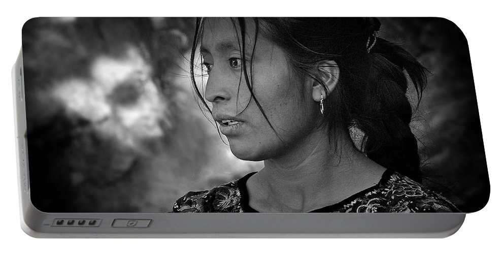 Beauty Portable Battery Charger featuring the photograph Mayan Beauty by Tom Bell